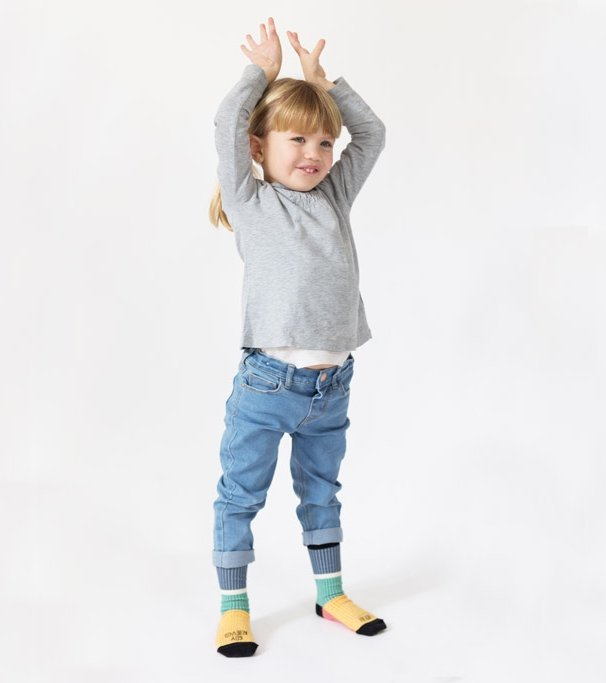 """Mini Calcetines """"¡Hola! Soy nuev@"""""""