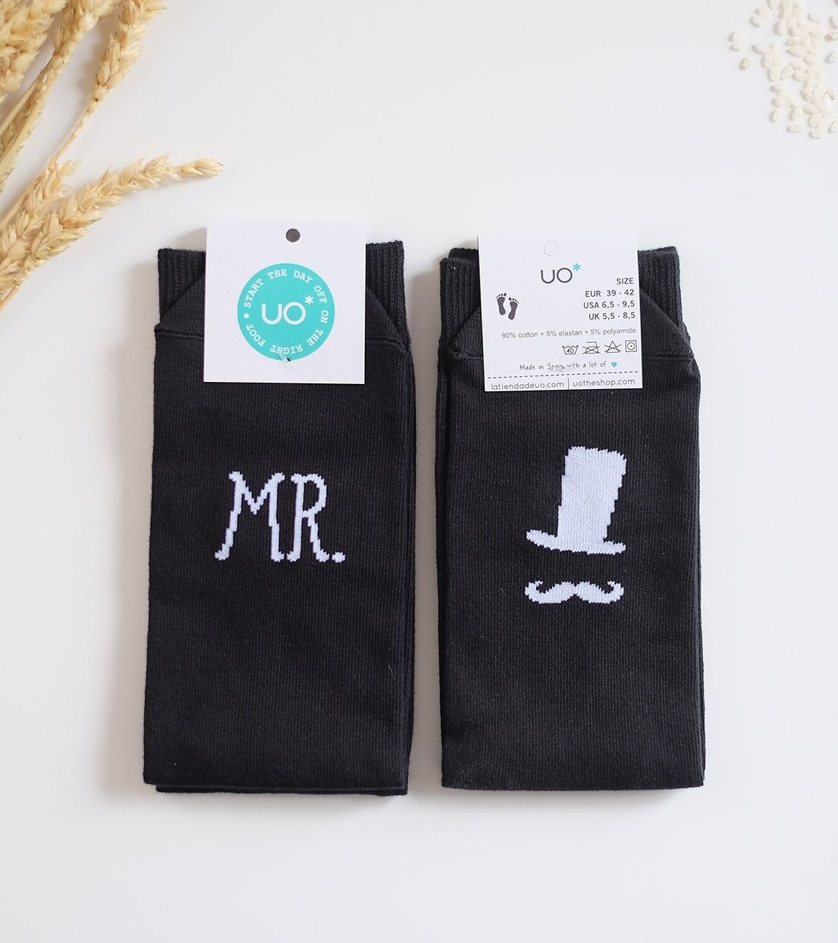 "Calcetines ""SR, JUST MARRIED"""