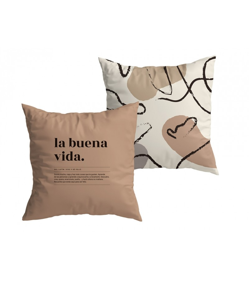 "Funda Cojín ""La buena vida"" New Collection"