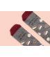 """Calcetines """"Me pones los pelillos de punta"""" Granate"""
