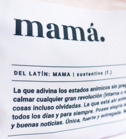 """Estuche Tela """"Mamá Definición"""" Multicolor"""