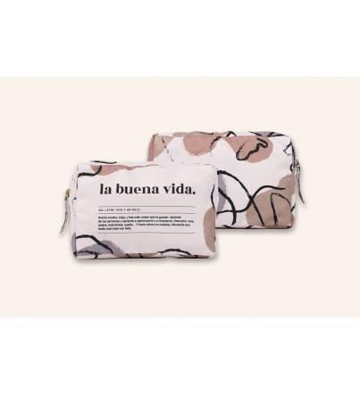 "Estuche Tela ""La buena vida. Definición"" New Collection"
