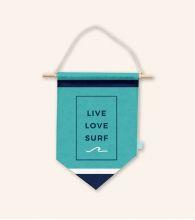 "Banderín ""Live, love, surf"""