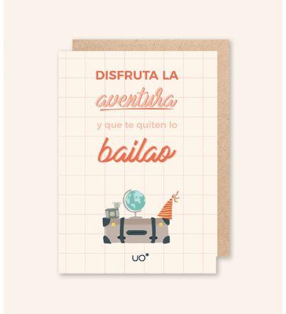 """Postal """"Disfruta la aventura"""""""