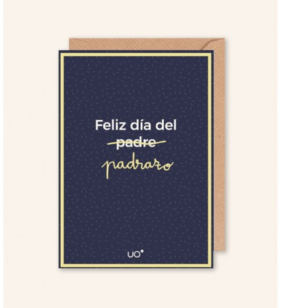 """Postal """"Feliz día del padrazo"""""""