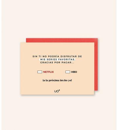"""Postal """"Gracias por Netflix"""""""