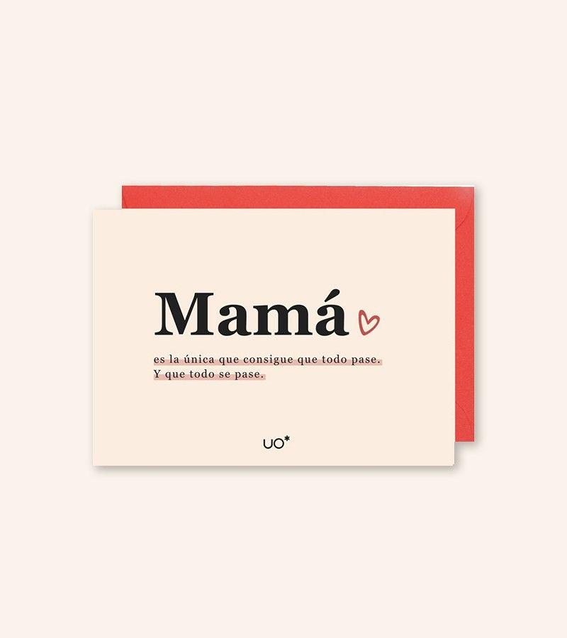 "Postal ""Mamá lo cura todo"""