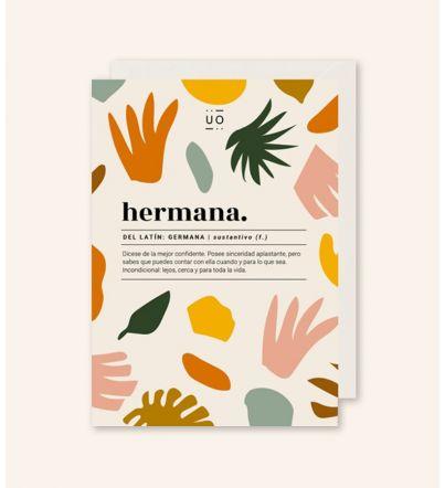"""Postal """"Hermana. Definición"""" New Collection"""