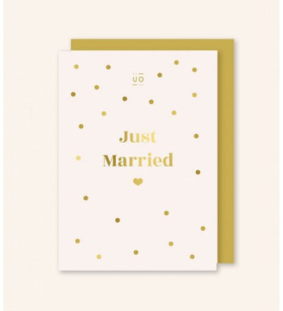 "Postal ""Just Married"" Dorado"