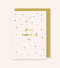 "Postal ""Just Married"" Dorado"