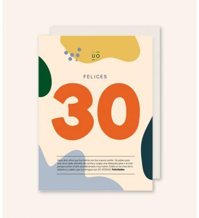 "Postal ""Felices 30"""