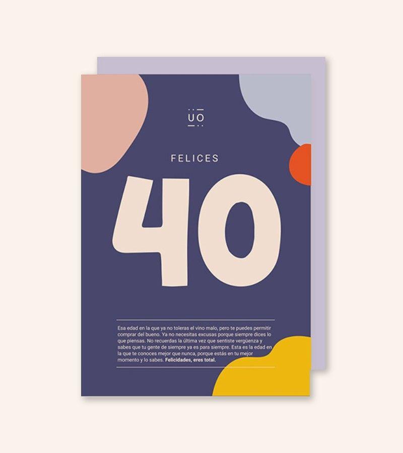 "Postal ""Felices 40"""