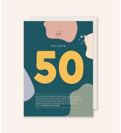 "Postal ""Felices 50"""