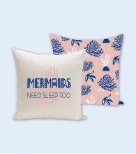 """Funda cojín """"Mermaids need sleep too"""""""