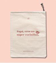 """Bolsa Tela """"Papá cocinillas"""""""