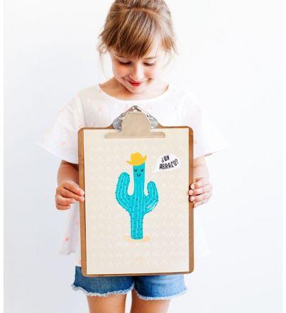 """Lámina Infantil """"Cactus"""""""