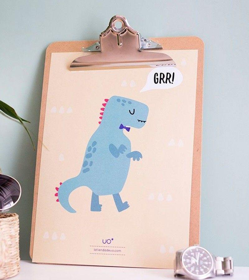 "Lámina Infantil ""Dinosaurio"""
