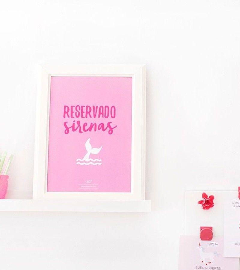"""Lámina Infantil """"Reservado Sirenas"""""""