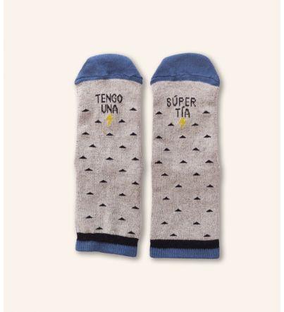 "Mini - Calcetines ""Tengo una supertía"""
