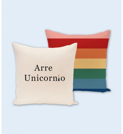 Funda Cojín Arre unicornio Arcoiris
