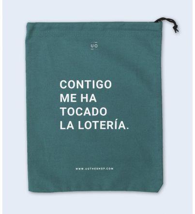 """Bolsa Tela Regalo """"Contigo..."""