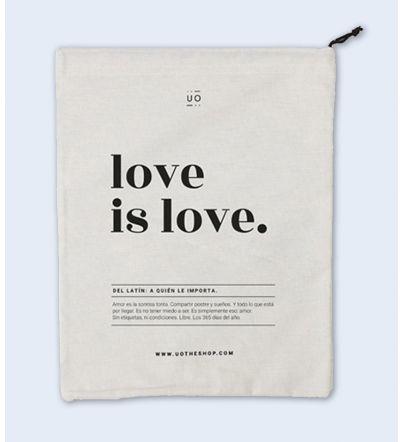 "Bolsa Tela Regalo ""Love is..."