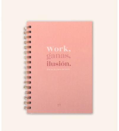 """Libreta """"Work, ganas, ilusión"""""""
