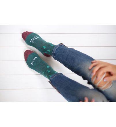 """Calcetines """"Juntos en cada paso"""" Verde"""