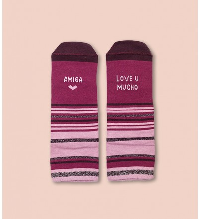 "Calcetines ""Amiga love you..."