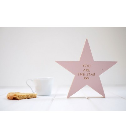 "Estrella madera ""You are the star"""