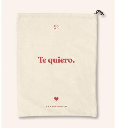 """Bolsa tela regalo """"Te quiero"""""""