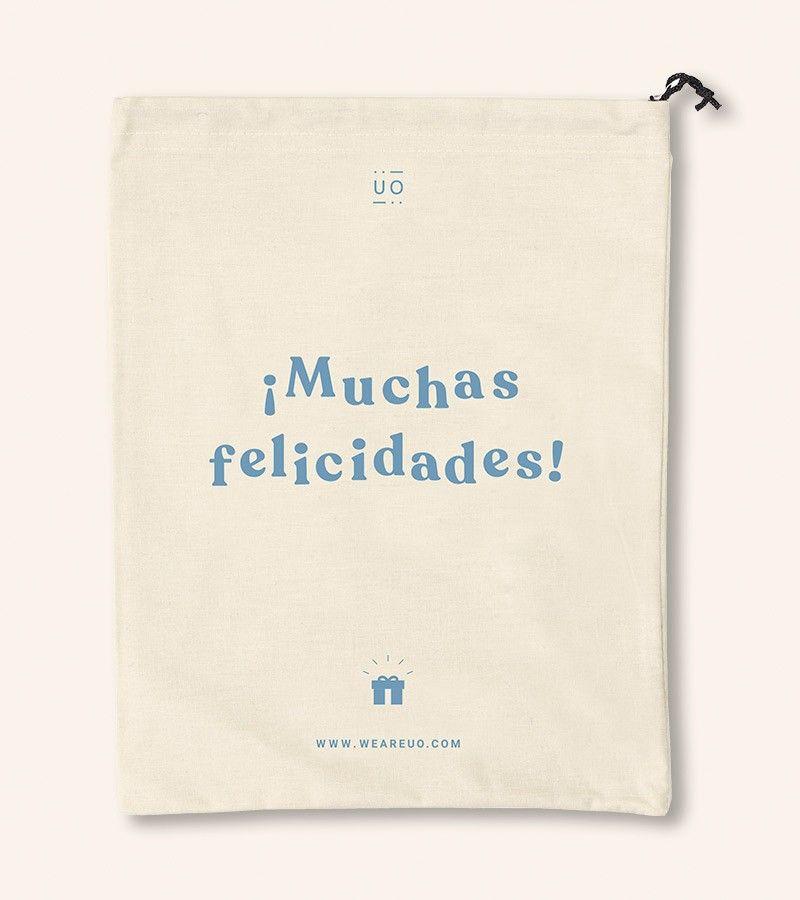 Bolsa Tela Regalo Muchas Felicidades