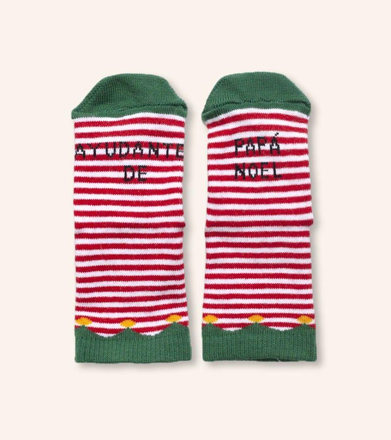 """Mini Calcetines """"Ayudante de Papá Noel"""" Guirnalda"""