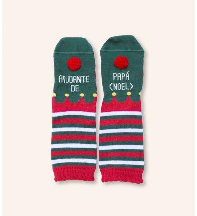 """Mini - Calcetines """"Ayudante de papá Noel"""""""