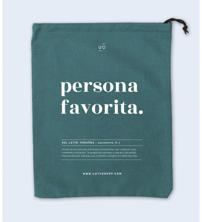 "Bolsa Tela Regalo ""Persona..."