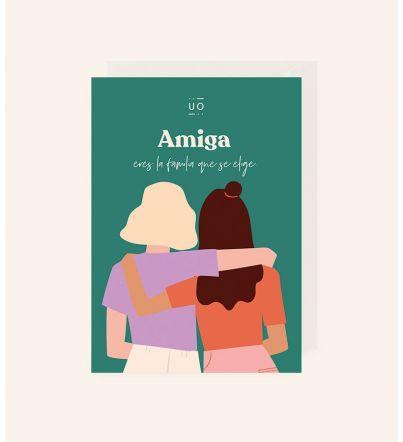 """Postal """"Amiga eres la..."""