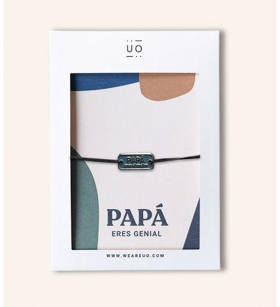 """Pulsera charm """"El mejor papá"""""""