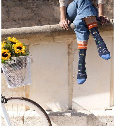 "Calcetines ""En bicicleta..."