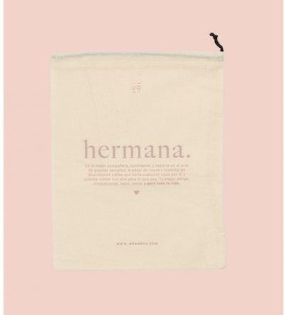 "Bolsa tela regalo ""Hermana""..."