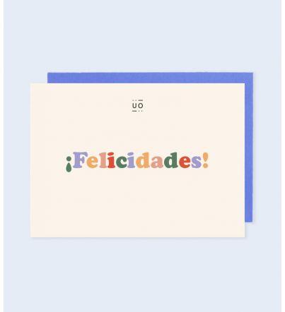 "Postal ""¡Felicidades!"""