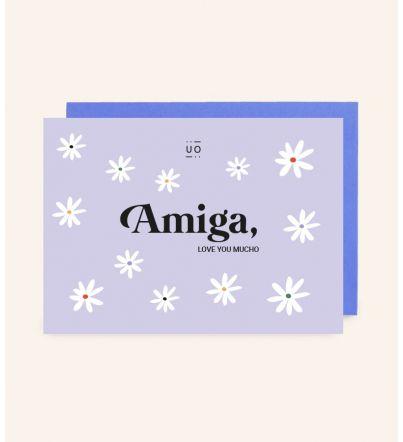 "Postal ""Amiga, love you mucho"""