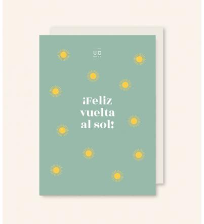 """Postal """"¡Feliz vuelta al sol!"""""""