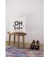 """Funda cojín: """"Oh, la la"""""""