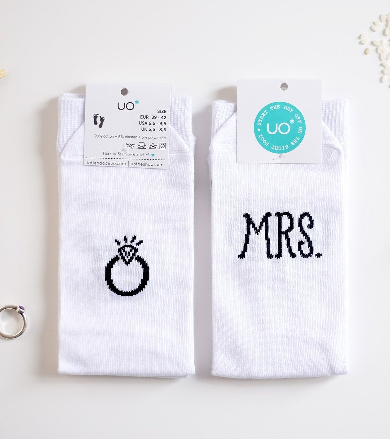 """Calcetines """"MRS, JUST MARRIED"""""""