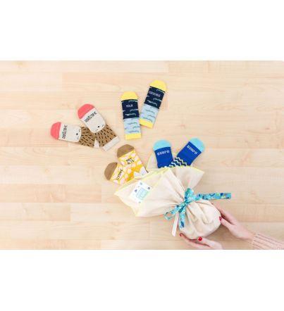 Saco de Cigüeña Azul. Mini - Calcetines