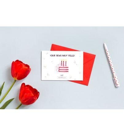 """Postal Cumpleaños """"Qué seas muy feliz"""""""