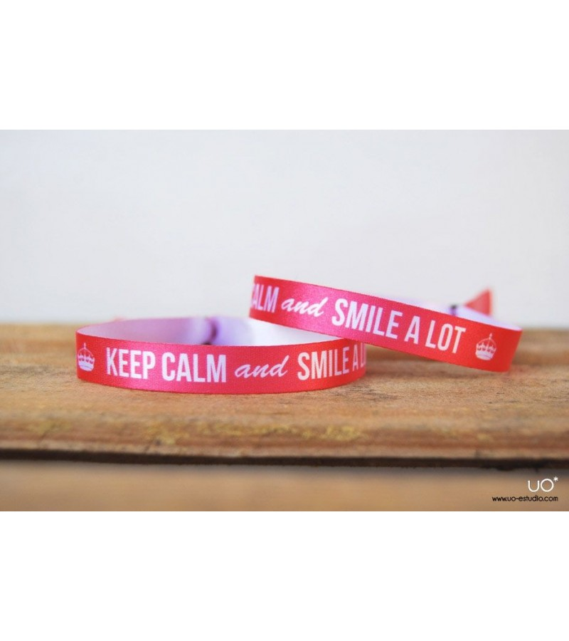 "Pulsera feliz ""Keep calm and smile a lot"""