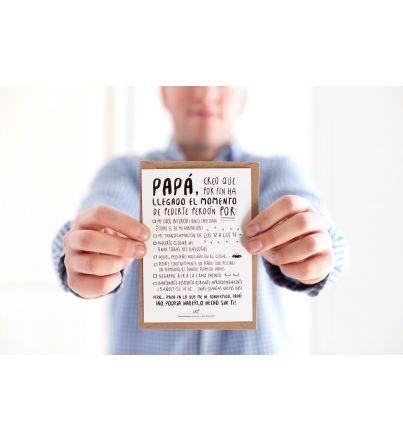 "Postal ""Perdón, Papá"""