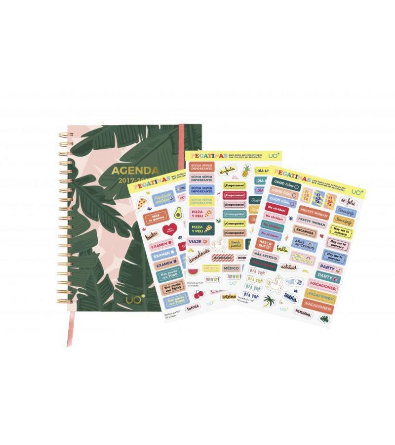 """Kit Agenda 2017 - 2018 """"Tropical"""" con STICKERS"""
