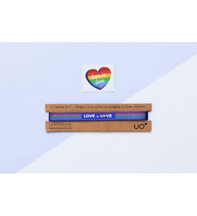 "Pulsera ""Love is Love"""